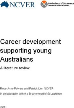 Career development supporting young Australians A literature review
