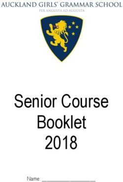 Senior Course Booklet 2018