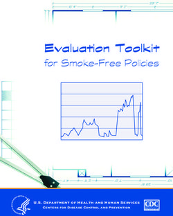 Evaluation Toolkit - for Smoke-Free Policies