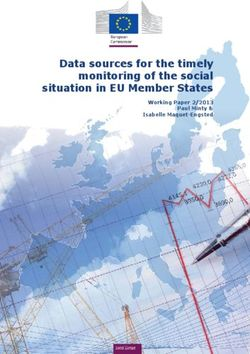 Data sources for the timely monitoring of the social situation in EU Member States