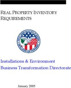 Installations & Environment Business Transformation Directorate