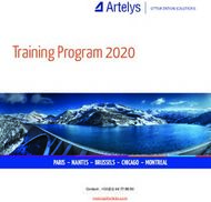 Training Program 2020