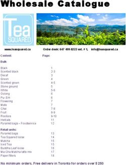 Tea Squared Wholesale Catalogue