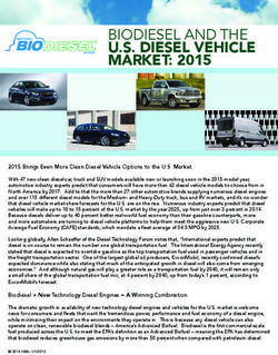 U.S. DIESEL VEHICLE MARKET: 2015 - BIODIESEL AND