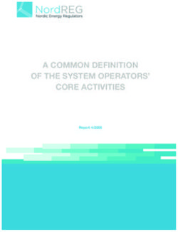 A common definition of the system operators' core activities