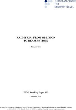 KALMYKIA: FROM OBLIVION TO REASSERTION?