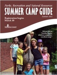 SUMMER CAMP GUIDE - Parks, Recreation and Natural Resources