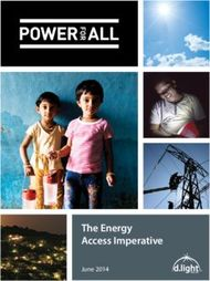 The Energy Access Imperative