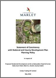 Statement of Consistency with National and County Development Plan Planning Policy
