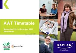 AAT Timetable - September 2015 - December 2015 Manchester