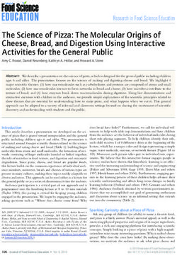 The Science of Pizza: The Molecular Origins of Cheese, Bread, and Digestion Using Interactive Activities for the General Public