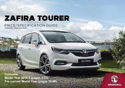 ZAFIRA TOURER PRICE/SPECIFICATION GUIDE