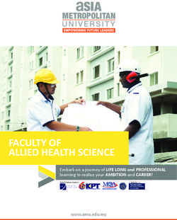 Asia Metropolitan University 2017 - Faculty of Allied Health Science