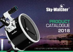 Sky-Watcher Product 2018 Catalogue