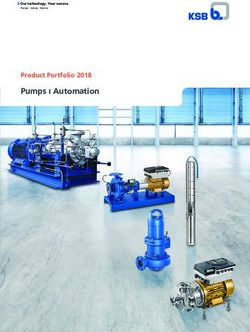 Pumps ı Automation Product Portfolio 2018