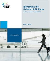 Identifying the Drivers of Air Fares