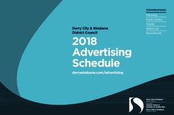 2018 Advertising Schedule - Derry City & Strabane District Council