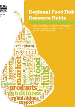 Regional Food Hub Resource Guide Food hub impacts on regional food systems, and the resources available to support their growth and development