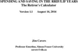 SPENDING AND SAVING IN THE RRIF/LIF YEARS