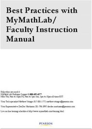 BEST PRACTICES WITH MYMATHLAB/ FACULTY INSTRUCTION MANUAL