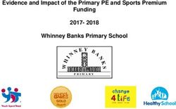 2017- 2018 Evidence and Impact of the Primary PE and Sports Premium