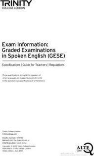 Examinations information, rules and regulations