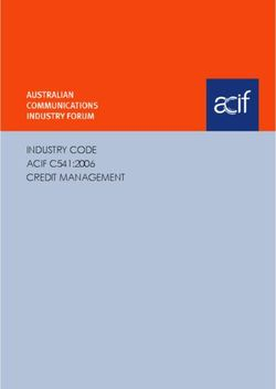 INDUSTRY CODE ACIF C541:2006 CREDIT MANAGEMENT