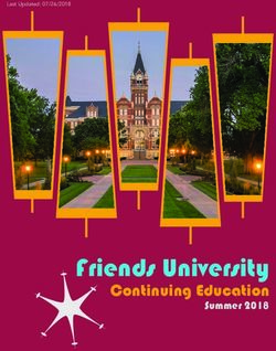 Friends University - Continuing Education Summer 2018
