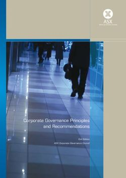 Corporate Governance Principles and Recommendations