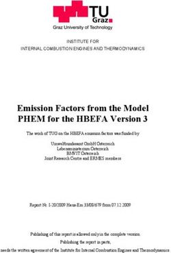 Emission Factors from the Model PHEM for the HBEFA Version 3