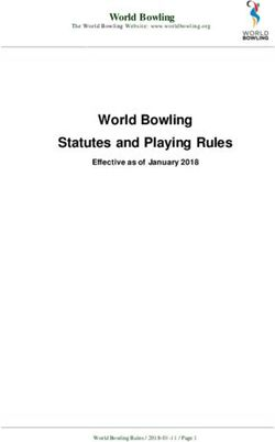 Statutes and Playing Rules World Bowling