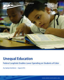 Unequal Education - Federal Loophole Enables Lower Spending on Students of Color
