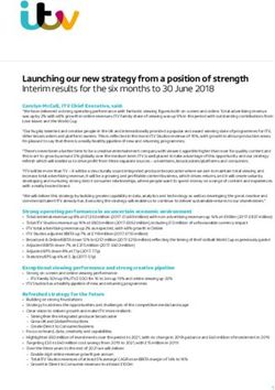 Launching our new strategy from a position of strength