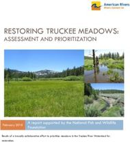 RESTORING TRUCKEE MEADOWS: ASSESSMENT AND PRIORITIZATION