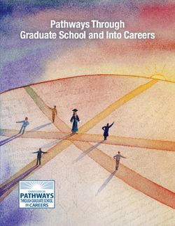 Pathways Through Graduate School and Into Careers
