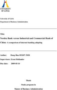 Nordea Bank versus Industrial and Commercial Bank of