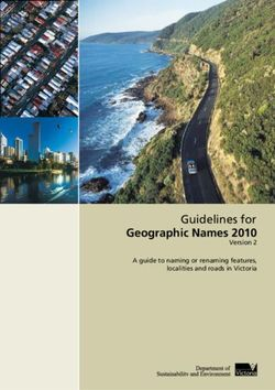 Geographic Names 2010 Guidelines for Version 2 A guide to naming or renaming features, localities and roads in Victoria