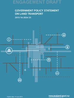 GOVERNMENT POLICY STATEMENT ON LAND TRANSPORT