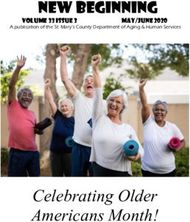 NEW BEGINNING - CELEBRATING OLDER AMERICANS MONTH! - VOLUME33ISSUE3 ...