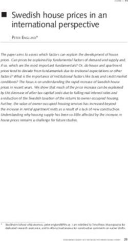 N swedish house prices in an international perspective