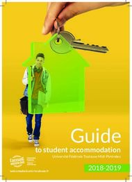 Guide - to student accommodation 2018-2019