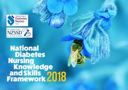 Framework 2018 - National Diabetes Nursing Knowledge and Skills
