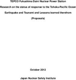 TEPCO Fukushima Daini Nuclear Power Station Research on the status of response to the Tohoku-Pacific Ocean