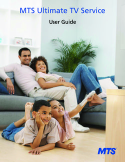 MTS Ultimate TV Service - User Guide