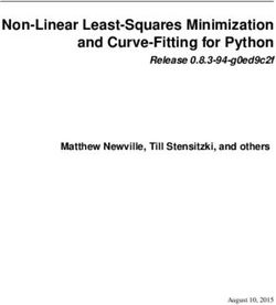 Non-Linear Least-Squares Minimization and Curve-Fitting for Python