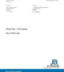 Official Plan - 2018 Update City of Elliot Lake