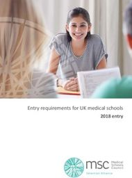 Entry requirements for UK medical schools