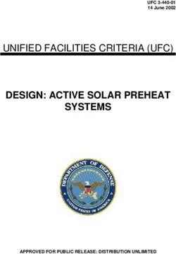 Design: active solar preheat systems unified facilities criteria (ufc)
