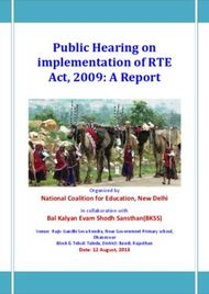 Public Hearing on implementation of RTE Act, 2009: A Report