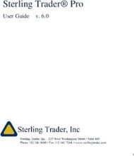 Sterling Trader Pro - User Guide v. 6.0